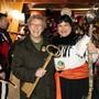 Gemeindepräsidentin Johanna Bartholdi übergibt Jacki I. den (N)egerkinger Schlüssel.