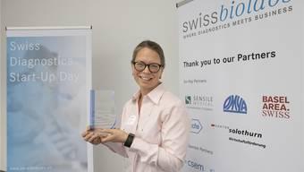Anna Fahlgren des schwedischen Start-ups holte sich den Preis in Olten ab.