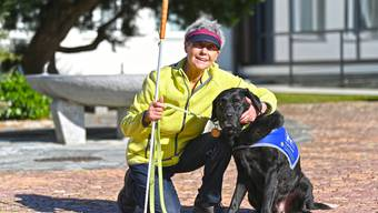 Cécile Streuli und ihr Blindenführhund Camiro