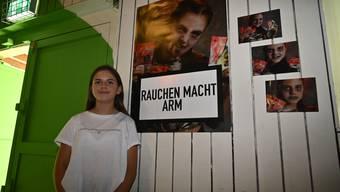 Larissa (12) hat sich für das  Foto «umgestylt».