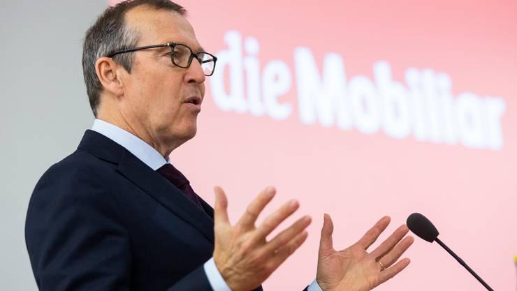 Mobiliar-CEO Markus Hongler an der letztjährigen Bilanzmedienkonferenz.