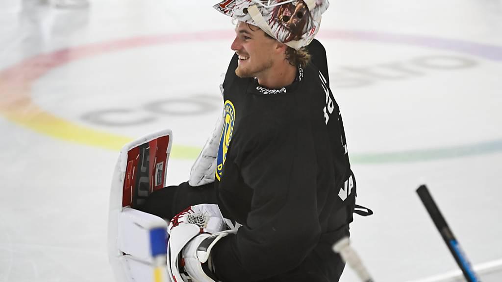 Nach seinem Sommertraining in Davos schaffte es Gilles Senn (noch) nicht in die NHL-Mannschaft der New Jersey Devils