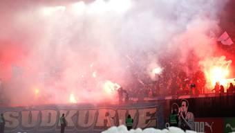 Dieses Spektakel bleibt verboten: FCZ-Fans in der Südkurve.