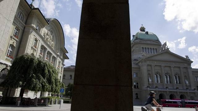 Das Nationalbankgebäude neben dem Bundeshaus in Bern