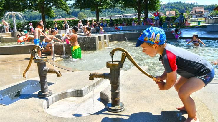 Die Hitzetage anfangs Juli sorgten für Besucherandrang in der Badi Schönenwerd.