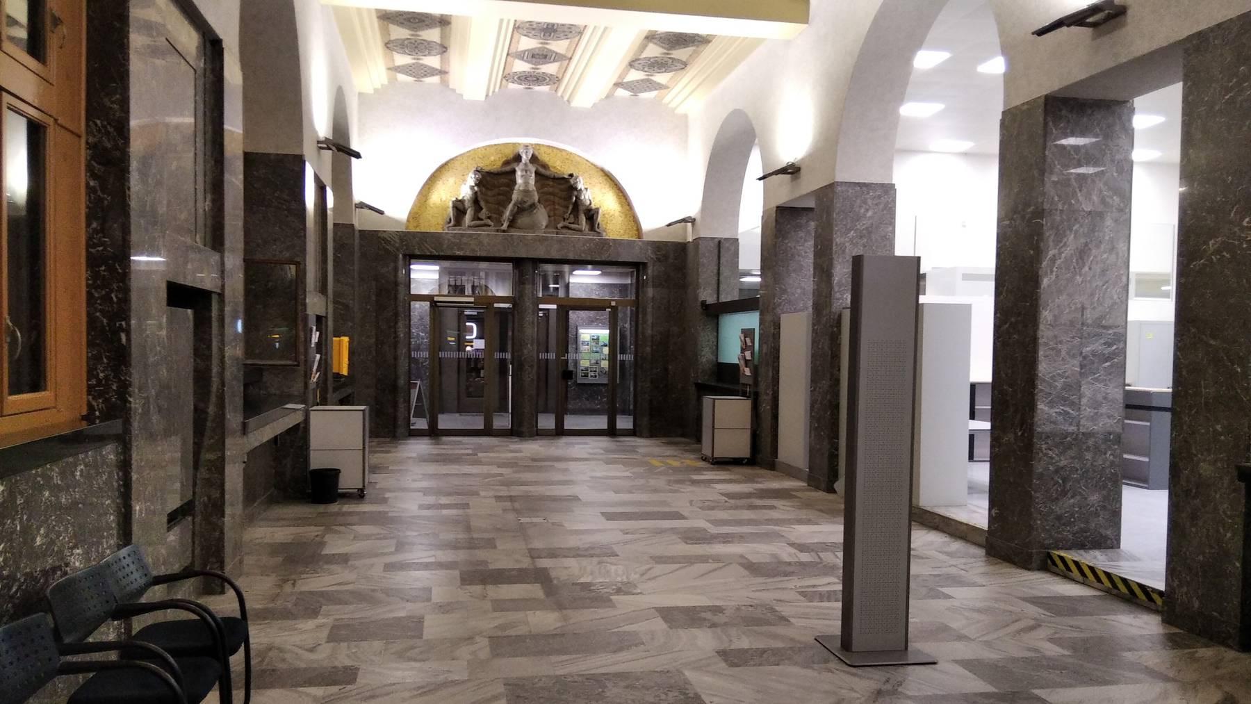 Schöne St.Galler Posthalle
