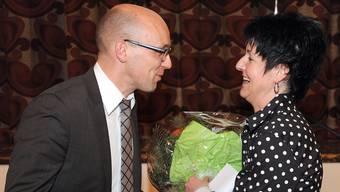 Rollentausch an der Parteispitze: Sandra Kolly übernimmt das Präsidium und Stefan Müller amtet künftig als einer von zwei Vizepräsidenten.