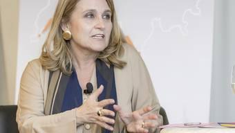 Simona Scarpaleggia, Chefin von Ikea-Schweiz, ist erfreut über die Umsatzentwicklung des schwedischen Möbelhändlers in der Schweiz. (Archiv)