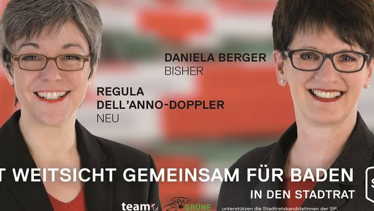 Regula Dell'Anno-Doppler und Daniela Berger sehen nicht nur fast gleich aus, sie wollen auch beide das Gleiche für Baden und am liebsten zusammen.