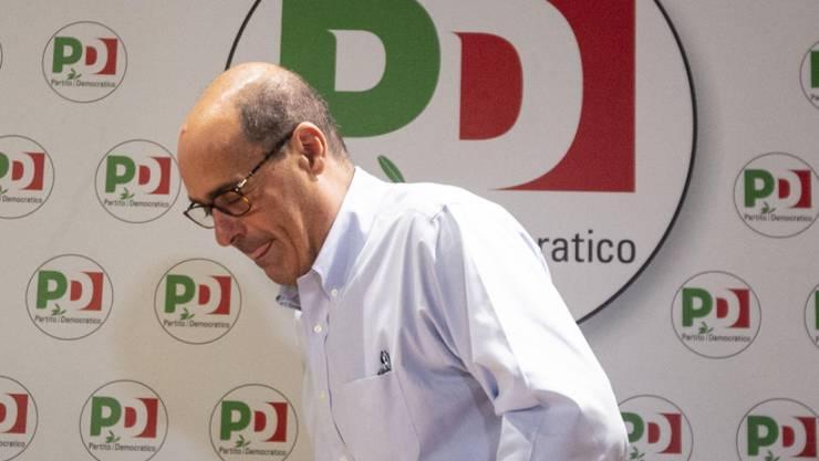 Pokert hoch bei den Koalitionsverhandlungen mit den Cinque Stelle: Partito-Democratico-Chef Nicola Zingaretti.