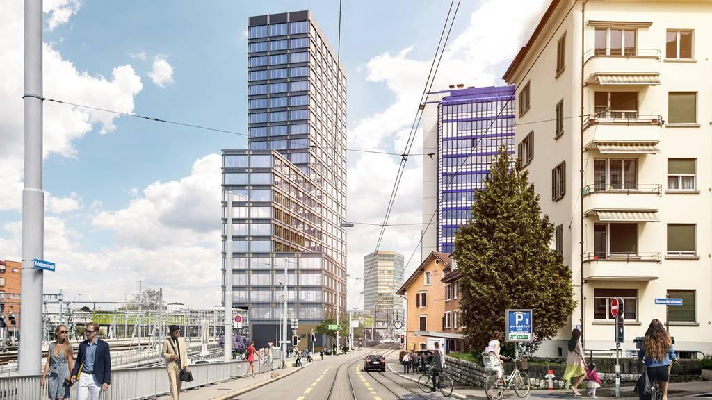 Der Franklinturm in Zürich-Oerlikon wird derzeit gebaut.