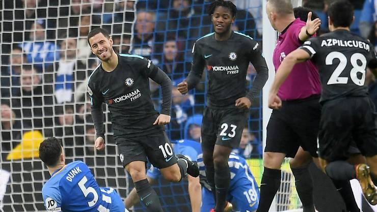 Eden Hazard nach seinem Führungstreffer für Chelsea gegen Brighton