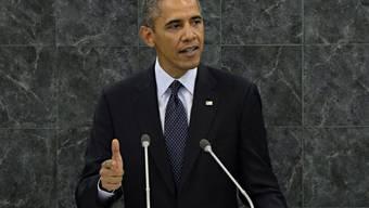 US-Präsident Obama während seiner Rede vor der UNO in New York
