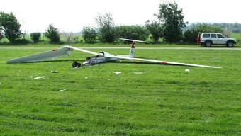 Segelflugzeug abgestürzt (Symbolbild)