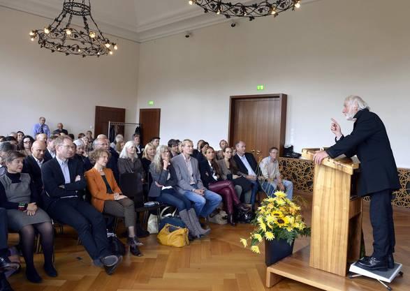 Ernst Sieber bei seiner Rede
