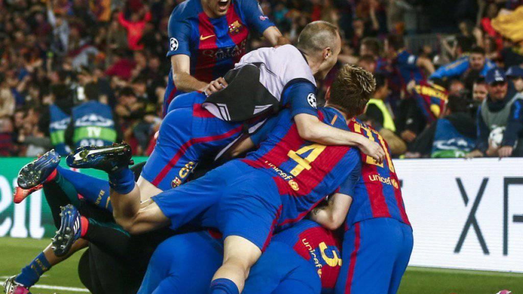 Dem FC Barcelona gelang beim 6:1 in den Champions-League-Achtelfinals gegen Paris Saint-Germain ein Sieg für die Ewigkeit