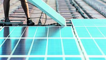 Solarzellen werden im Aargau nicht häufig installiert.