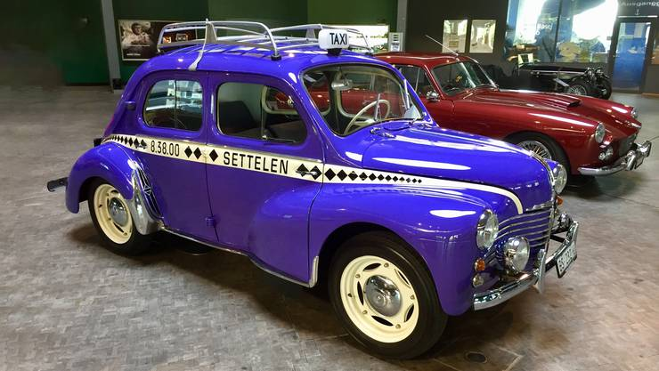 Dieses restaurierte Exemplar des Renault 4CV «Veyeli» befindet sich noch heute im Besitz der Settelen AG.