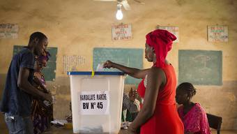 In einem Wahllokal in der malischen Hauptstadt Bamako.