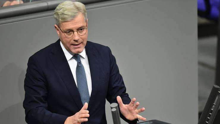 Norbert Röttgen (CDU), Mitglied des Deutschen Bundestages, spricht im Bundestag während der Debatte über den Haushalt des Auswärtigen Amtes.