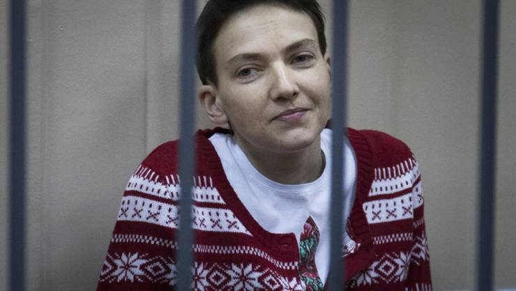 Der Prozess gegen Helikopter-Pilotin Nadja Sawtschenko hat begonnen.