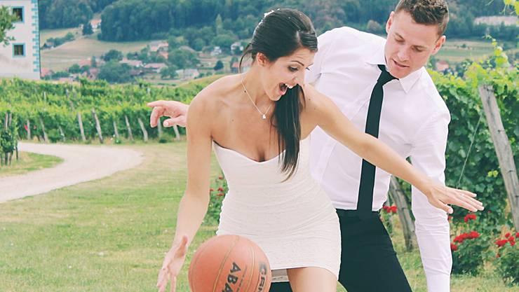 Haben ihr Glück in der Schweiz gefunden: Basketballer Dejan Hohler und seine Frau, Volleyballerin Ivana.