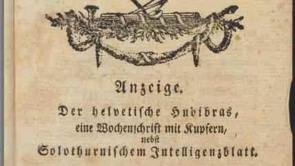 Eine Hudibras-Titelseite.