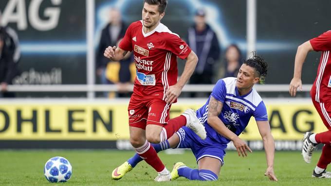 Eine Szene aus dem letzten Aargauer 1.-Liga-Derby im November 2019.
