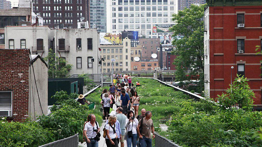 Künstler und Sänger traten auf der 2,5 Kilometer langen sogenannten High Line in New York auf. (Archivbild)