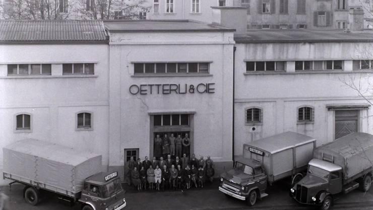 Ein Bild aus dem Archiv: Da war die Kafferösterei Oetterli noch neu.