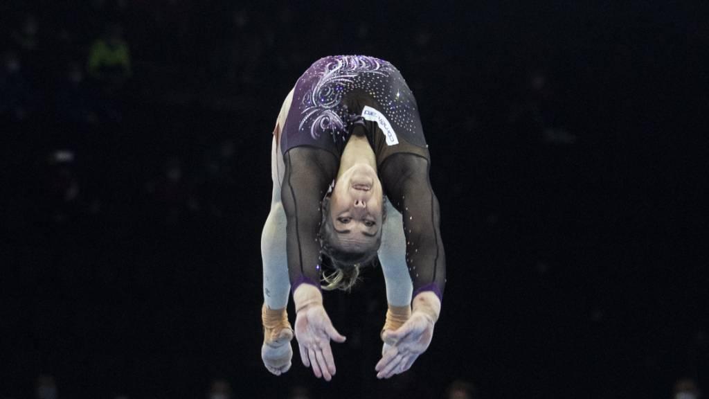 Trotz Oberschenkelverletzung holt sich Giulia Steingruber an der Heim-EM Gold.