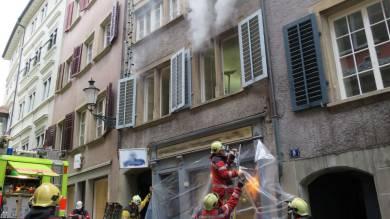 100'000 Franken Sachschaden: Brand an der Brunngasse im Zürcher Niederdorf.