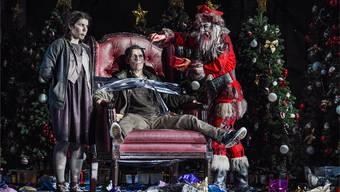 Hänsel und Gretel essen sich in einen Rausch: Für die Oper Zürich hat Regisseur Robert Carsen das Grimm-Märchen modern interpretiert. T+T/Tanja Dorendorf