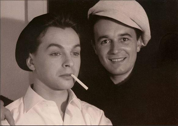 Das junge Paar Röbi Rapp (l.) und Ernst Ostertag 1956. (Bildquelle: zVg)
