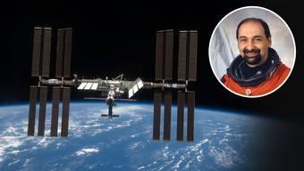 Was die wenigsten erleben: Tagelang ist der Ex-Astronaut Umberto Guidoni (kleines Bild) auf der ISS-Raumstation um die Erde gekreist.