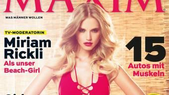 Miriam Rickli auf dem Maxim-Cover