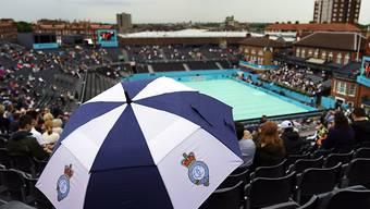Wegen Regens fanden am Dienstag in Queen's keine Spiele statt