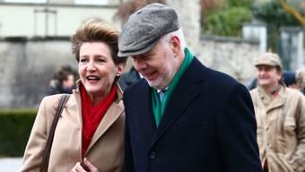 Bundesrätin Simonetta Sommaruga und Ehemann Lukas Hartmann