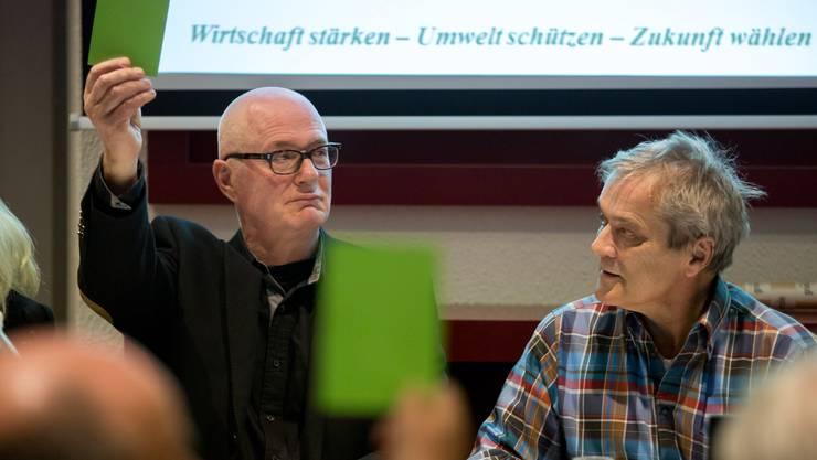 Der neue und der alte Parteipräsident: Georg Aemisseger und René Kühne