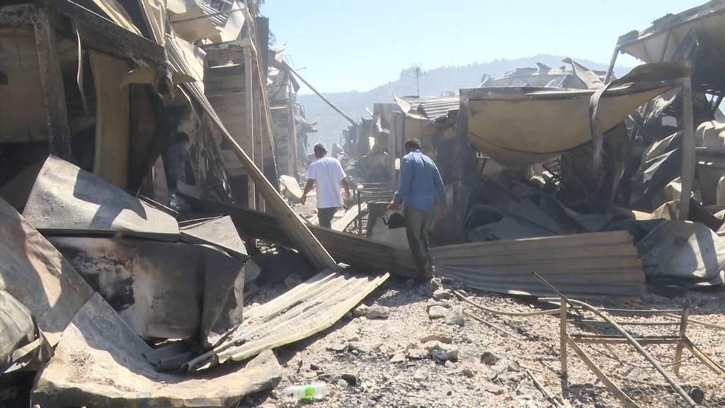 Europas grösstes Flüchtlingslager liegt in Trümmern