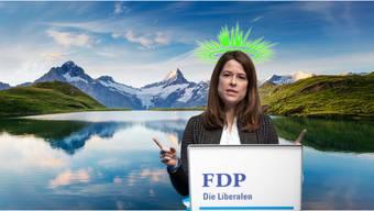 Grüner Heiligenschein als Wahlkampftaktik? Die Kehrtwende von FDP-Präsidentin Petra Gössi überraschte.