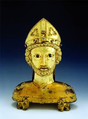 Im Historischen Museum steht auch die Goldstatue des heiligen St. Pantalus aus dem Basler Münsterschatz.