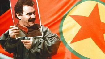 Protest für den kurdischen Rebellenchef Abdullah Öcalan (Symbolbild/Archiv)