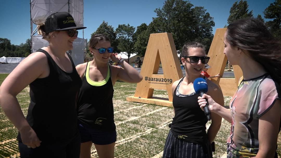 Gymnastik, Party und Verpflegung: ein Rundgang übers Turnfest-Areal