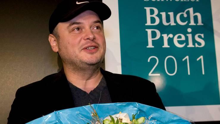 Buchpreisträger Catalin Dorian Florescu.  GeORGIOS KEFALAs/Keystone