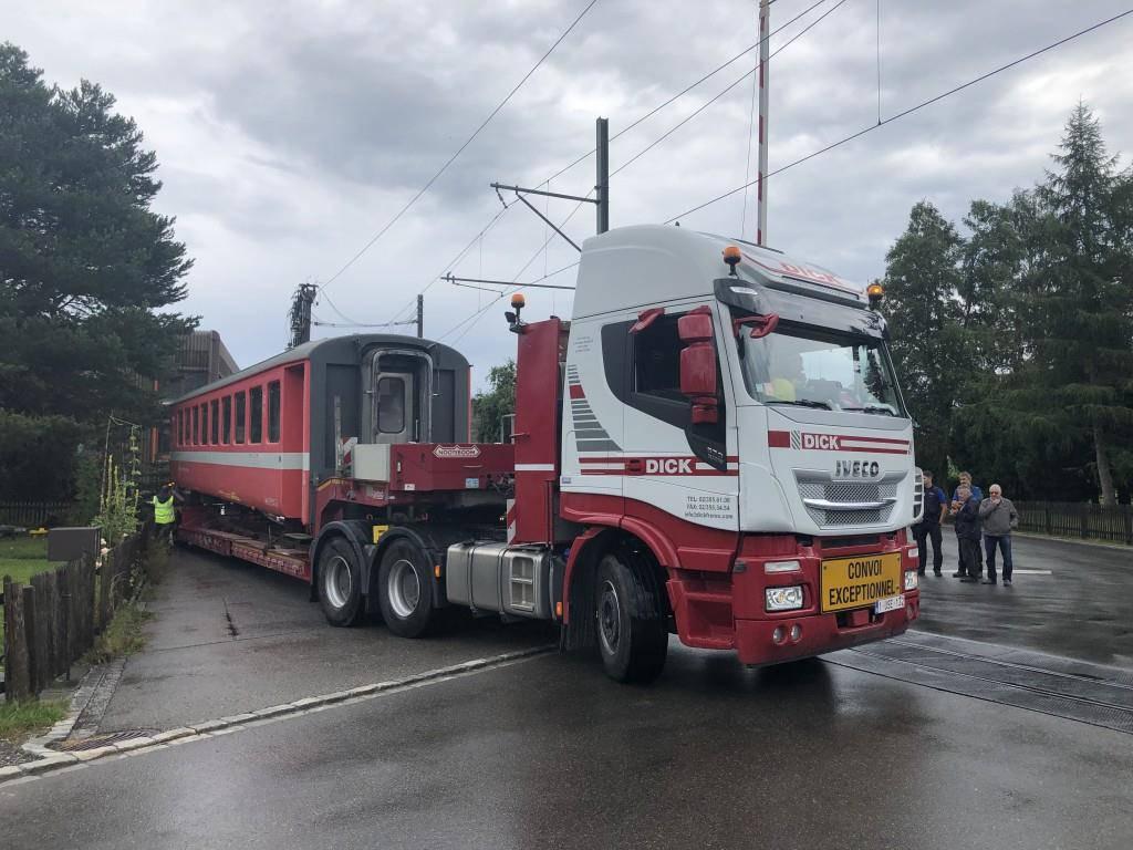 Abtransport alter Appenzeller Züge