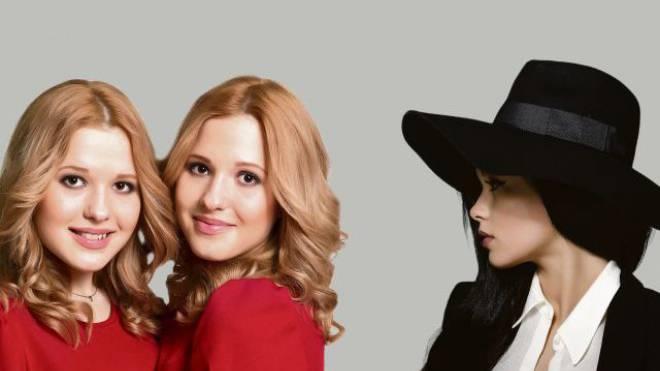 Die russischen Tolmachevy Sisters (links) und die ukrainische Sängerin Mariya Yaremchuk. Foto: HO