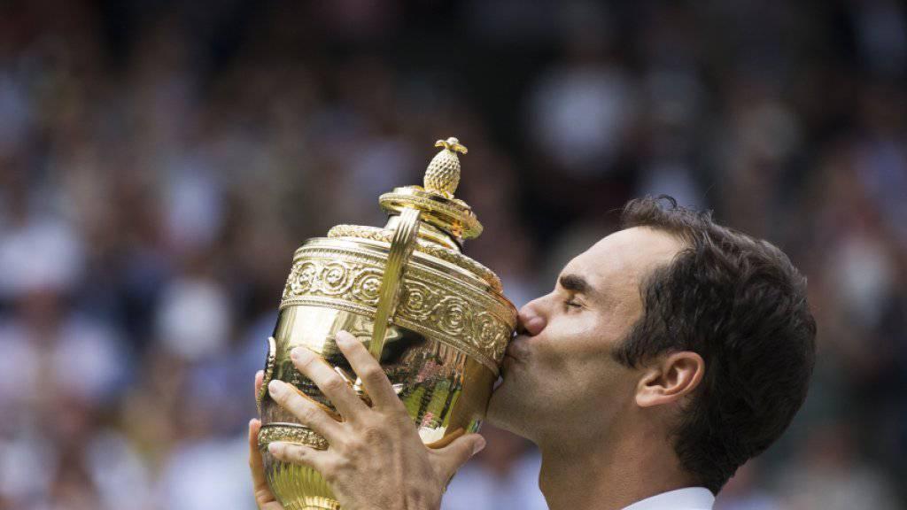 Zurück an die Arbeit: Roger Federer steht nächste Woche in Montreal erstmals seit dem gewonnenen Wimbledon-Final wieder im Einsatz