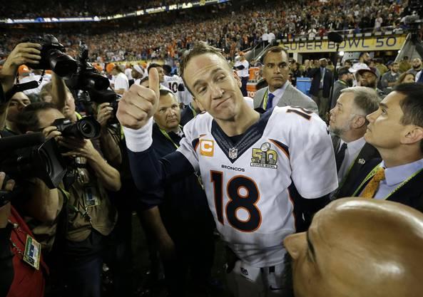 Der bodenständige Hero: Broncos-Quarterback Peyton Manning krönt im zarten Alter von 39 Jahren seine Karriere