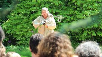 Margrit Gysin fesselte die Zuschauerinnen und Zuschauer mit dem Stück «Die sieben Raben». martin rupf
